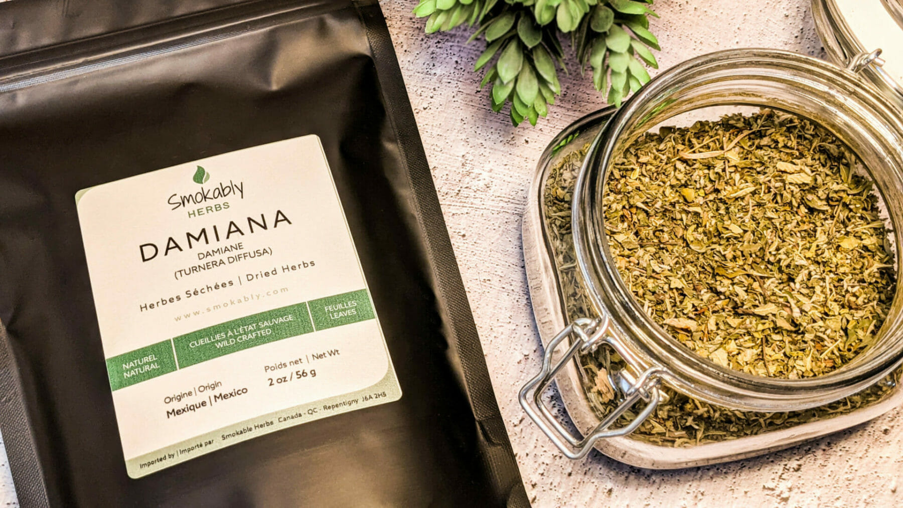 Damiana dried herb product